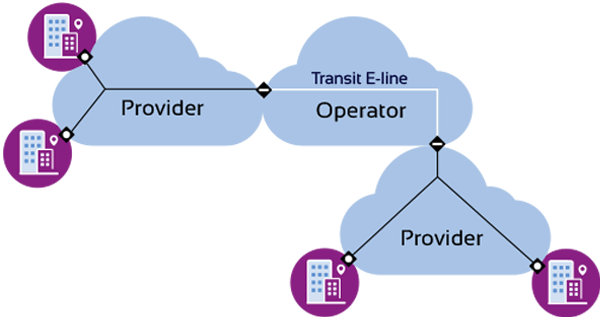 Transit E-Line Service diagram
